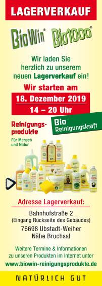 Lagerverkauf BioWin Reinigungsprodukte